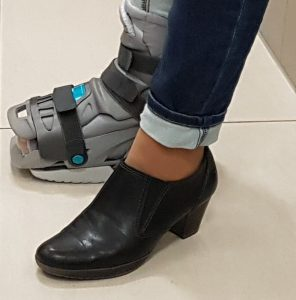 Wearing an orthosis