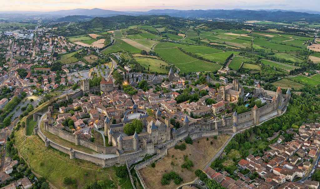Aerial photograph of Carcassonne
