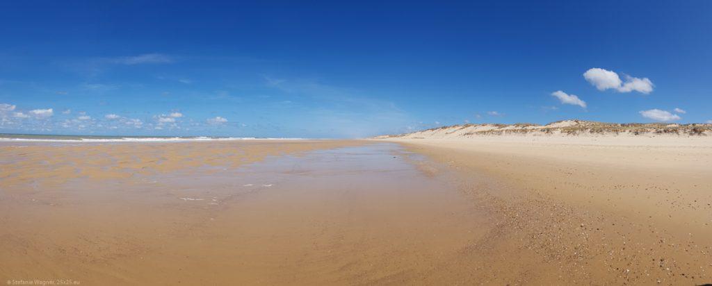 Empty beach panorama