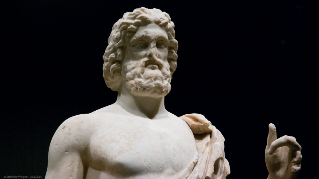 Top half of a marble statue
