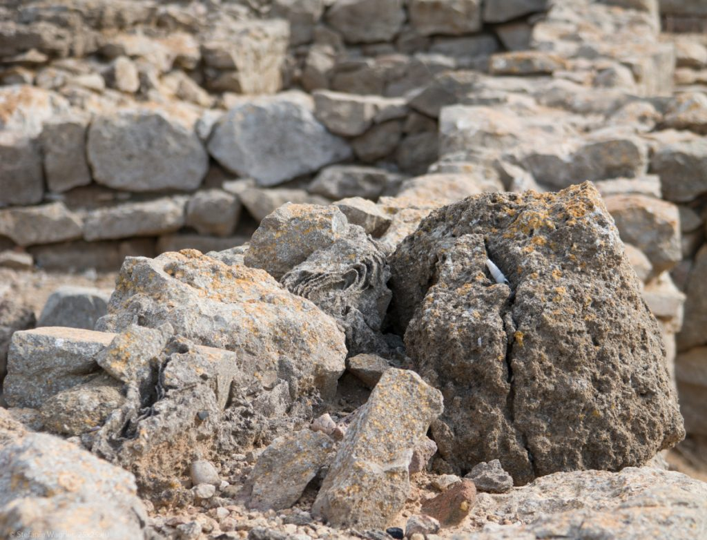 Variety of stones forming multiple walls