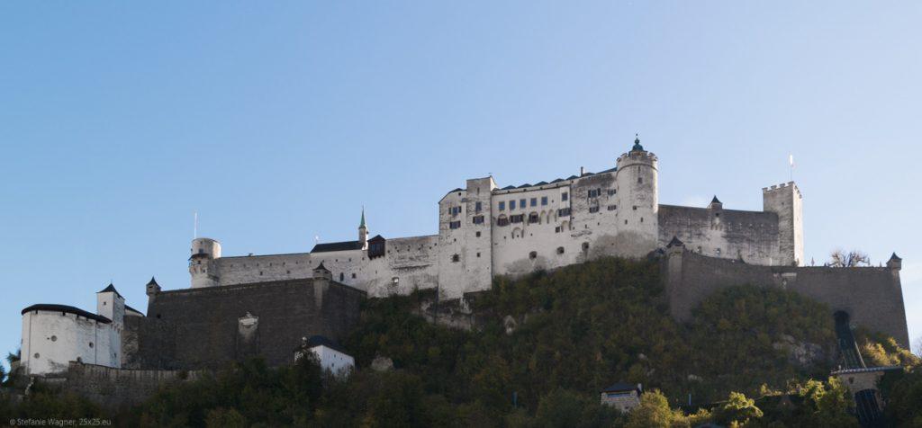 Salzburg Castle on a hill