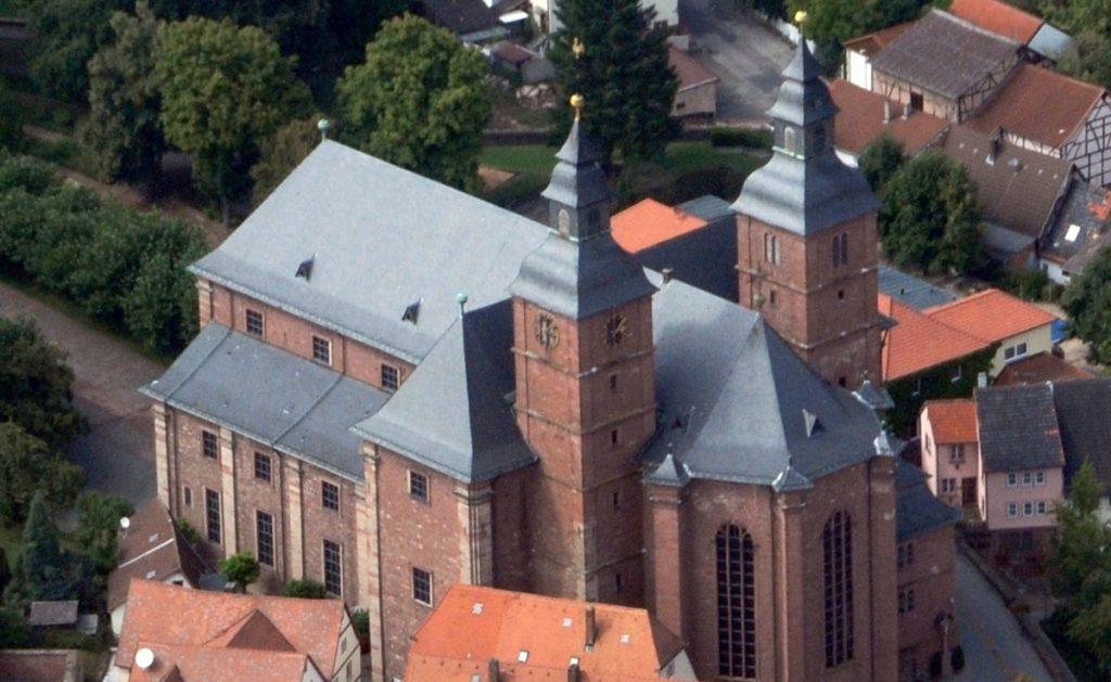 Aerial photograph of a very big church