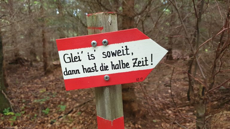 Different type of signposts – Hochsalm