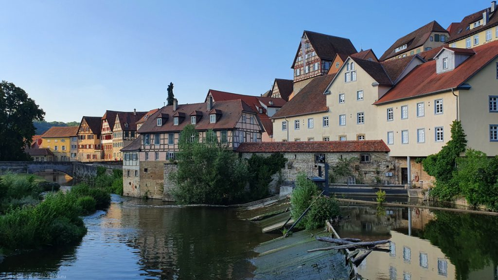 Old houses at the river Kocher