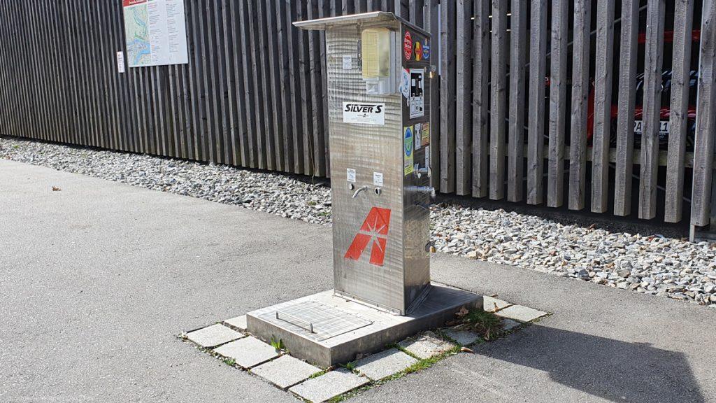 Camper site Ilzbruecke in Passau, fresh water and water disposal