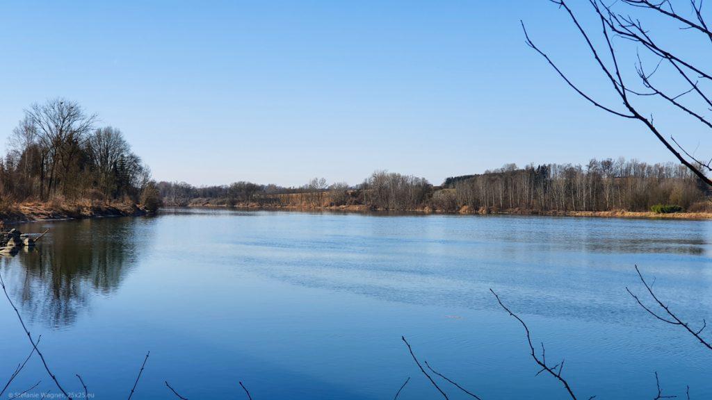 View across the river Inn